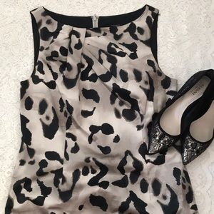 Ann Taylor leopard print sheath dress